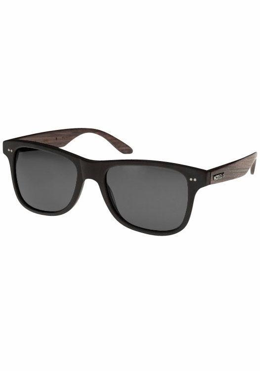 WOOD FELLAS Sonnenbrille in coolem Design in schwarz-grau