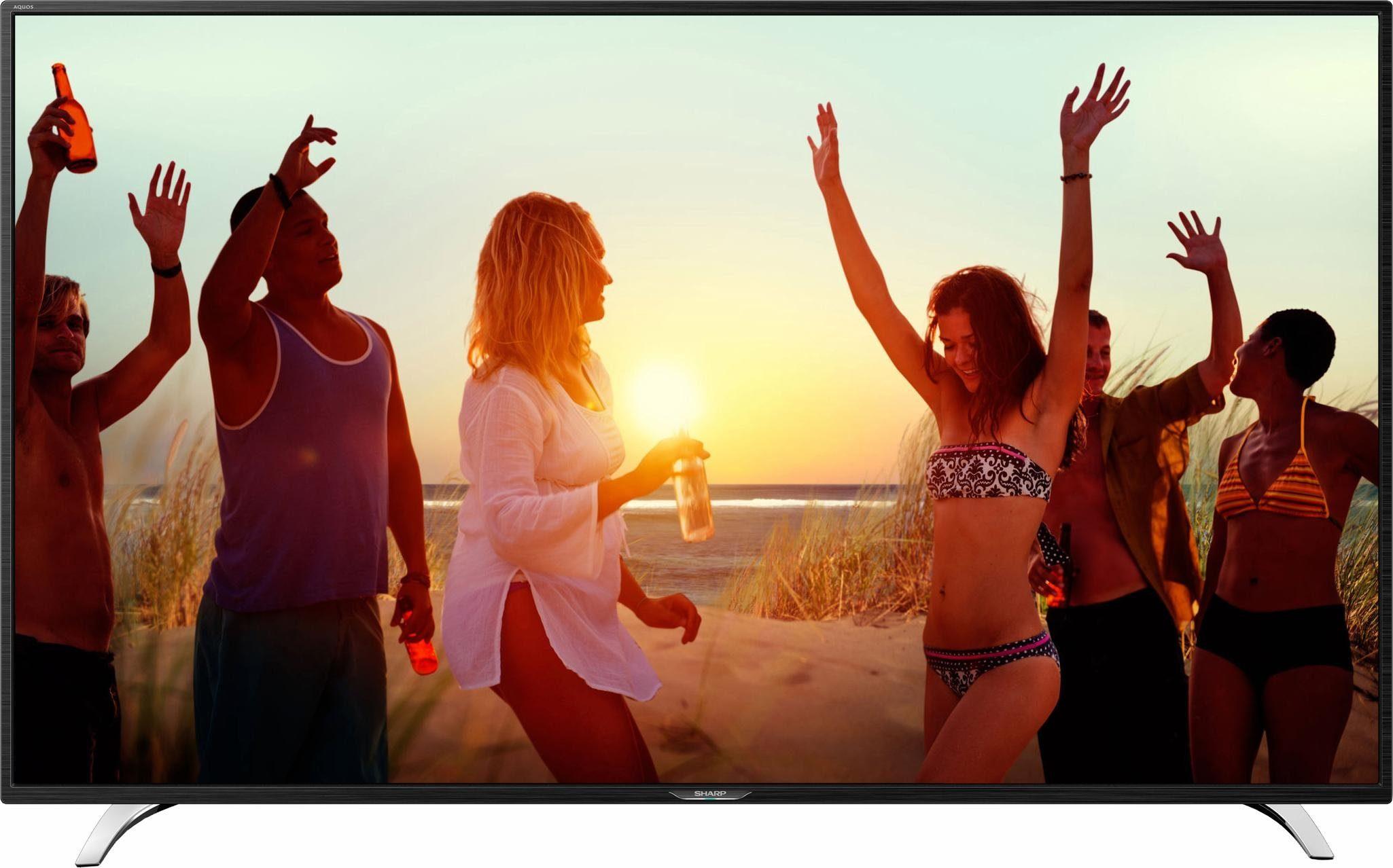 Sharp LC-55CFE6242E, LED Fernseher, 140 cm (55 Zoll), 1080p (Full HD), Smart-TV
