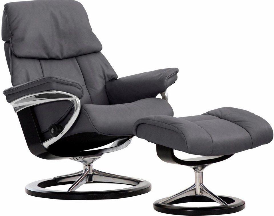 stressless set relaxsessel mit hocker ruby mit signature base gr e m mit schlaffunktion. Black Bedroom Furniture Sets. Home Design Ideas