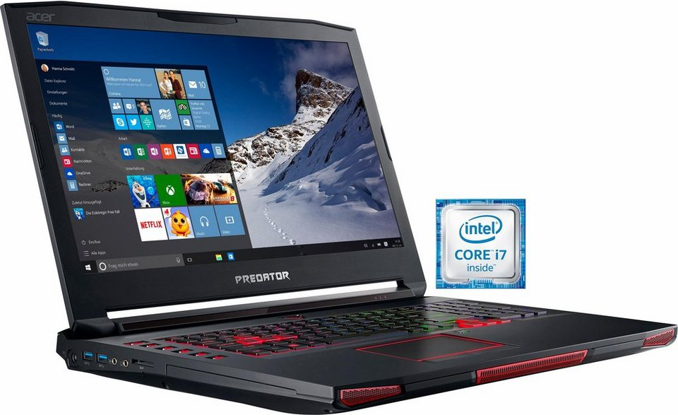 Acer Predator GX-791-75YL Notebook, Intel® Core™ i7, 43,9 cm (17,3 Zoll), 1512 GB Speicher in schwarz