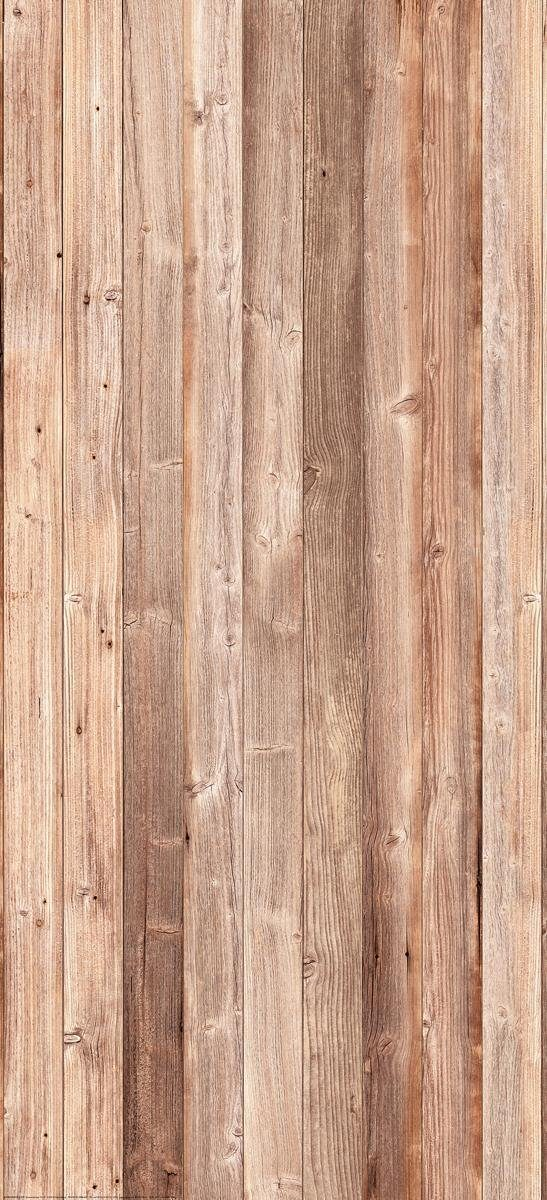 Eurographics Türtapete »Wooden Wall«, 92/202 cm