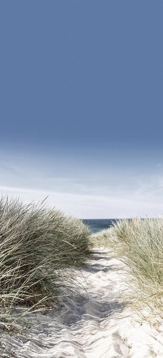 EUROGRAPHICS Türtapete »Dunes with Beach Grass«, 92/202 cm