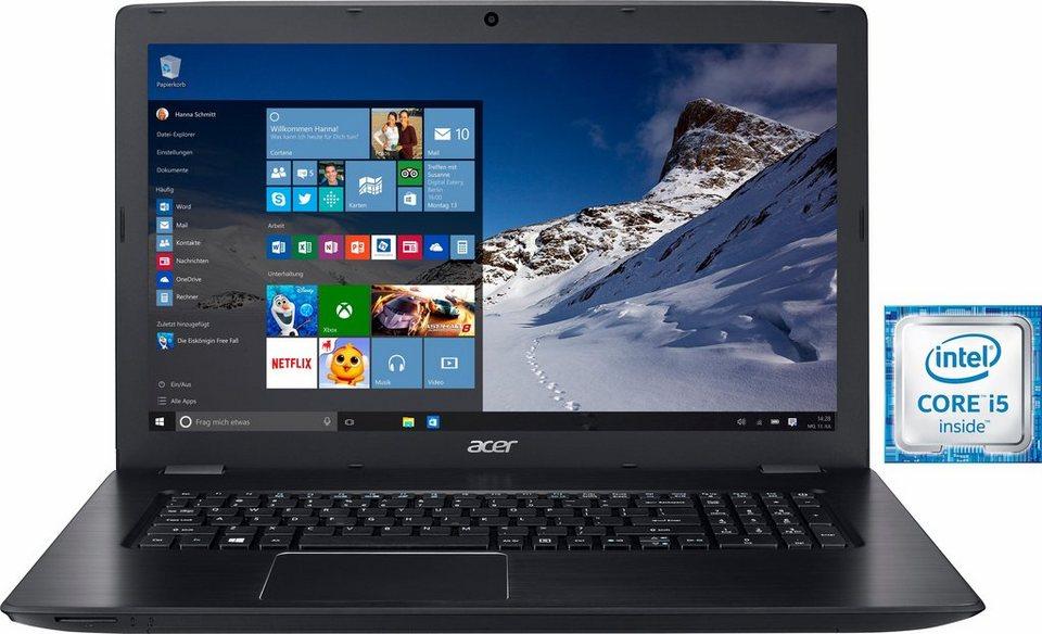 Acer Aspire E5-774G-546G Notebook, Intel® Core™ i5, 43,9 cm (17,3 Zoll), 1000 GB Speicher in schwarz