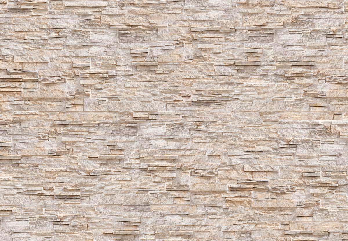 EUROGRAPHICS Fototapete »Natural Stone Wall«, 366/254 cm