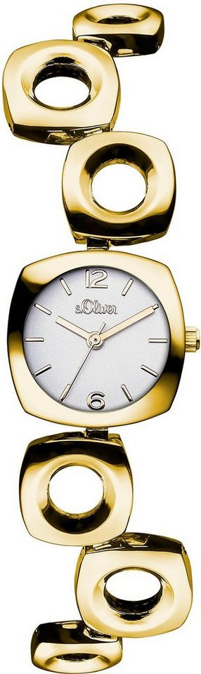 s.Oliver RED LABEL Quarzuhr »SO-3008-MQ« in goldfarben