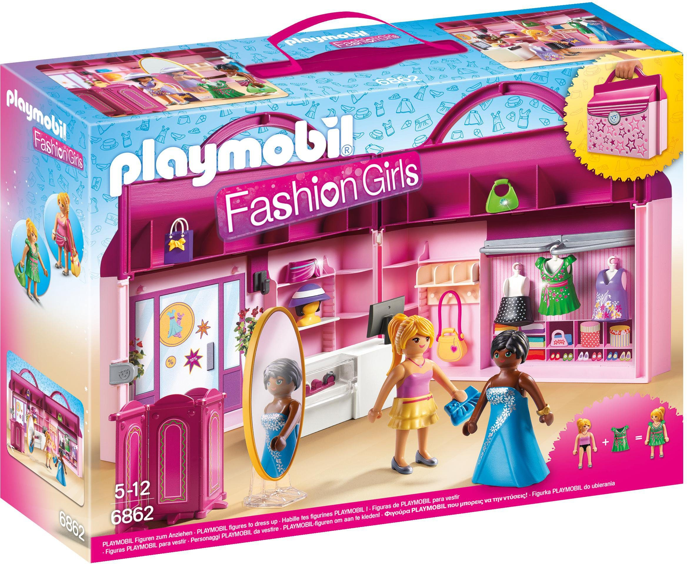 Playmobil® Modeboutique zum Mitnehmen (6862), »Fashion Girls«