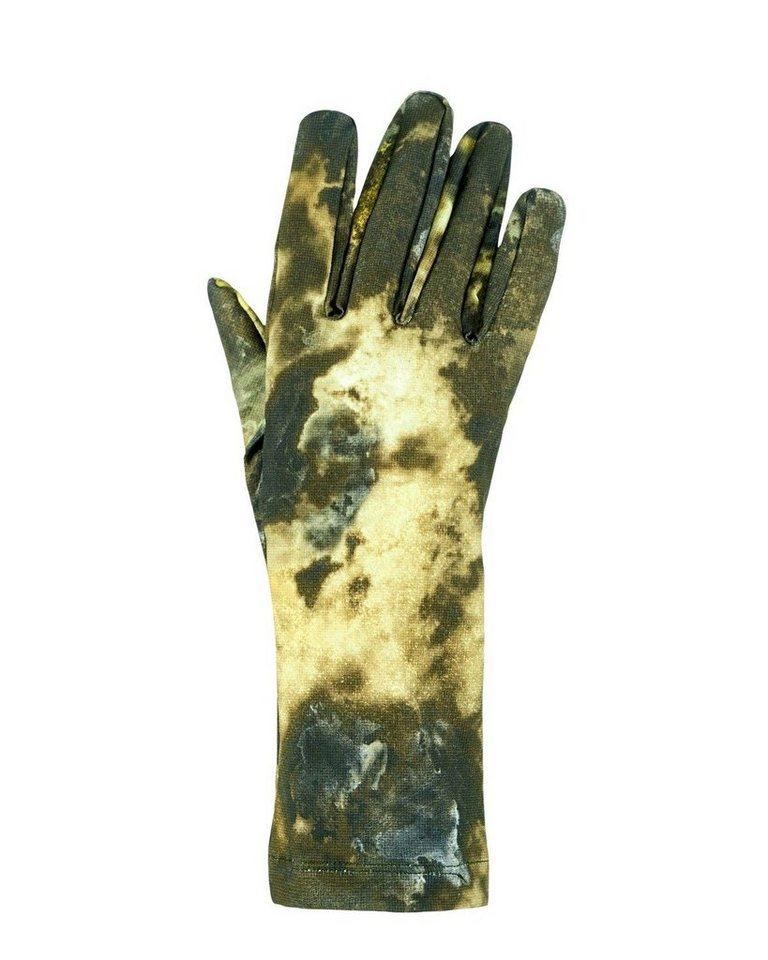 X Jagd Handschuhe in Grün gemustert