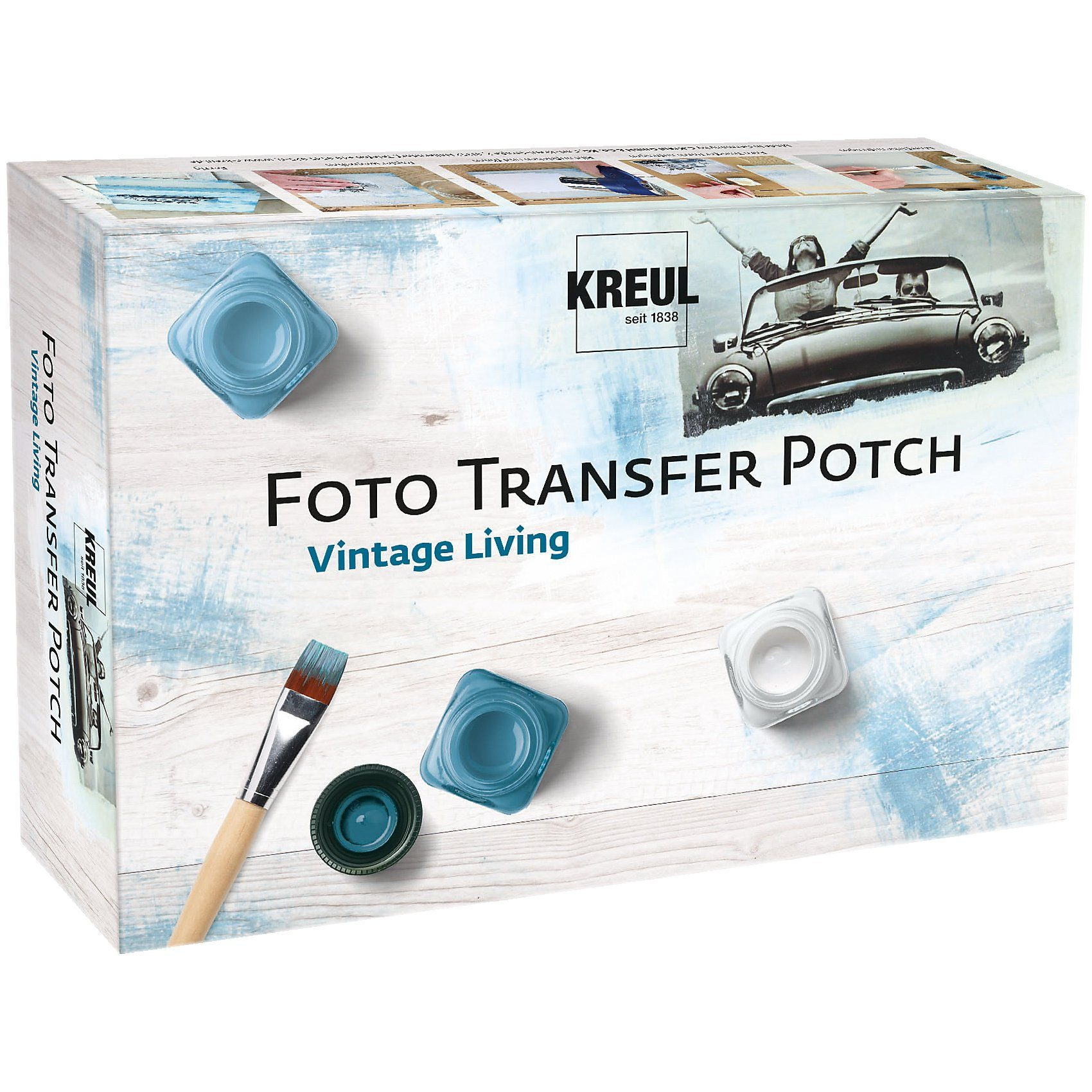 C. KREUL Foto Transfer Potch Set Vintage Living