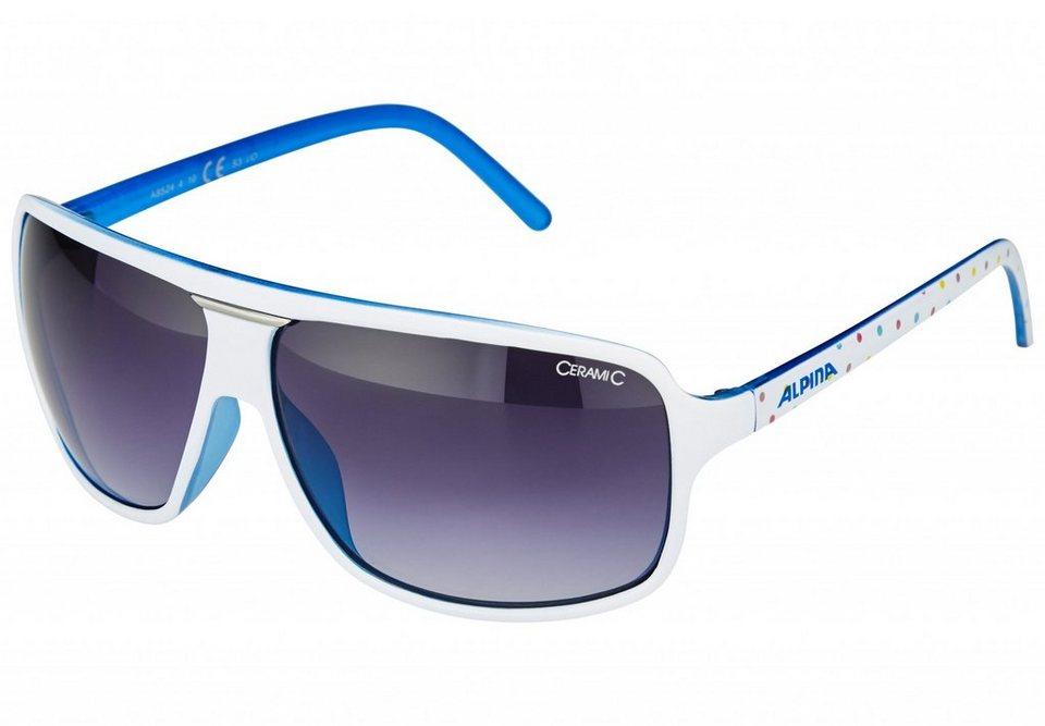 Alpina Radsportbrille »Manja Brille« in weiß