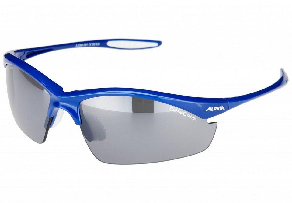 Alpina Radsportbrille »Tri-Effect Brille« in blau