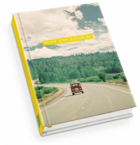 Gebundenes Buch »Never stop exploring Taschenkalender 2017«