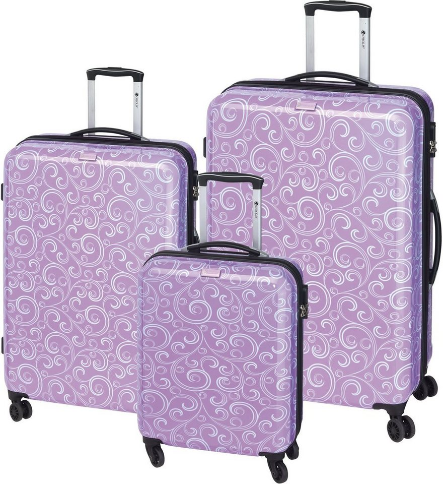 CHECK.IN® Hartschalentrolley Set mit 4 Rollen, 3tlg., »Bombay« in lila