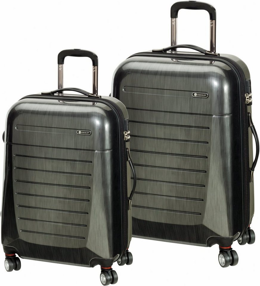 CHECK.IN® Hartschalentrolley Set mit 4 Zwillingsrollen, 2tlg., »Toronto« in silber
