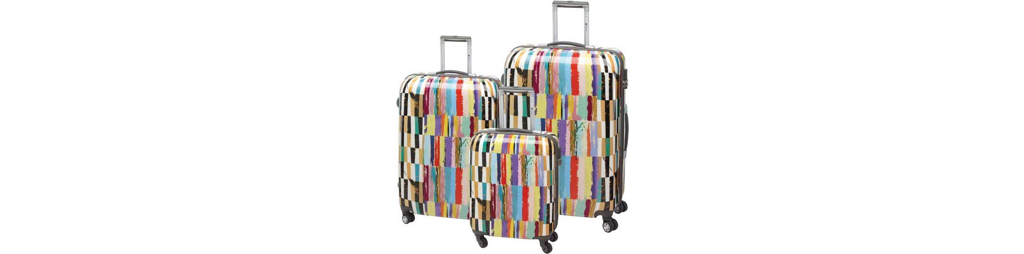 CHECK.IN® Hartschalentrolley Set mit 4 Zwillingsrollen, 3tlg., »Aruba«