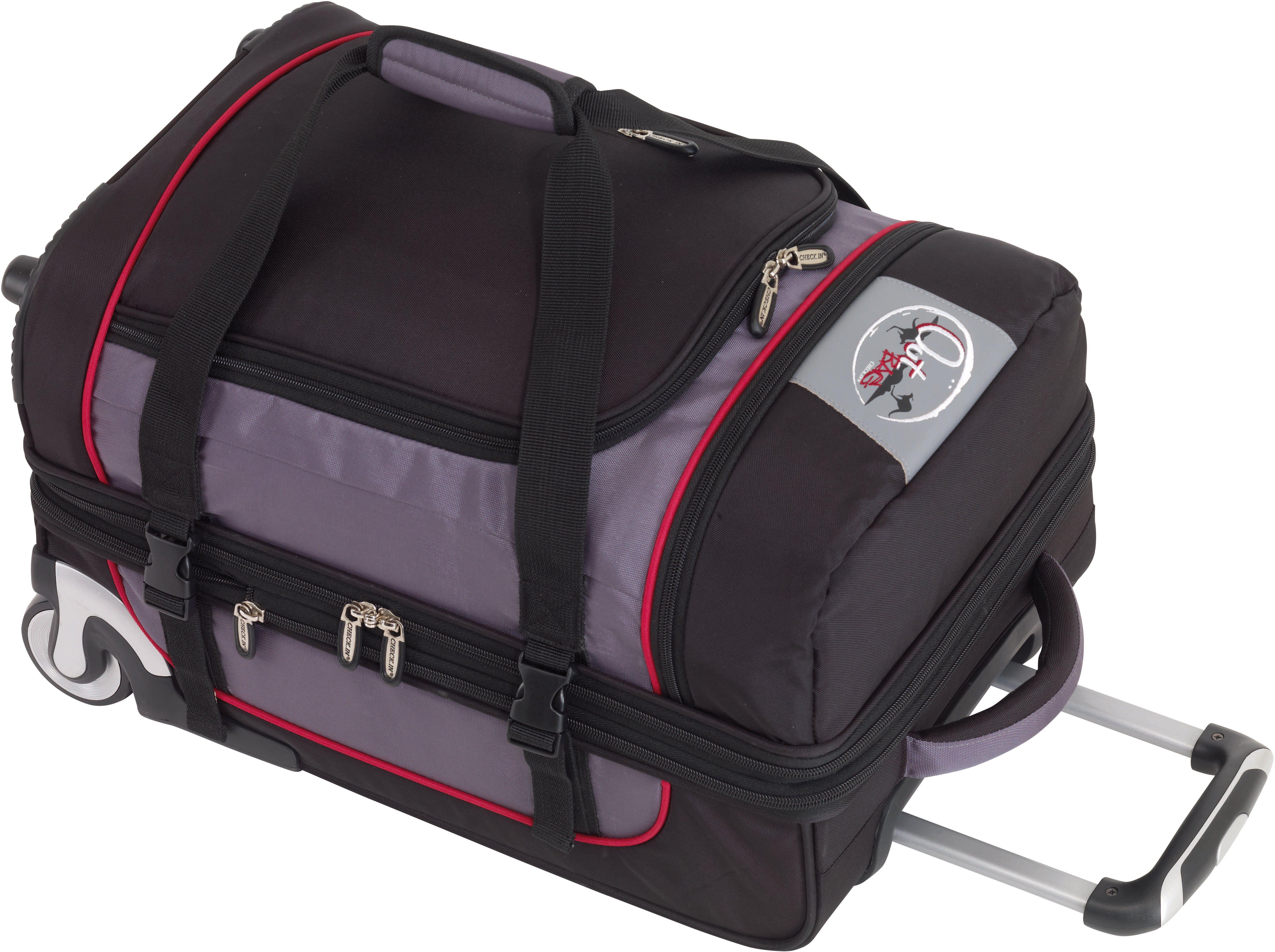 OutBAG Trolley-Reisetasche mit 2 Rollen, »OutBAG SPORTS S, schwarz/rot«