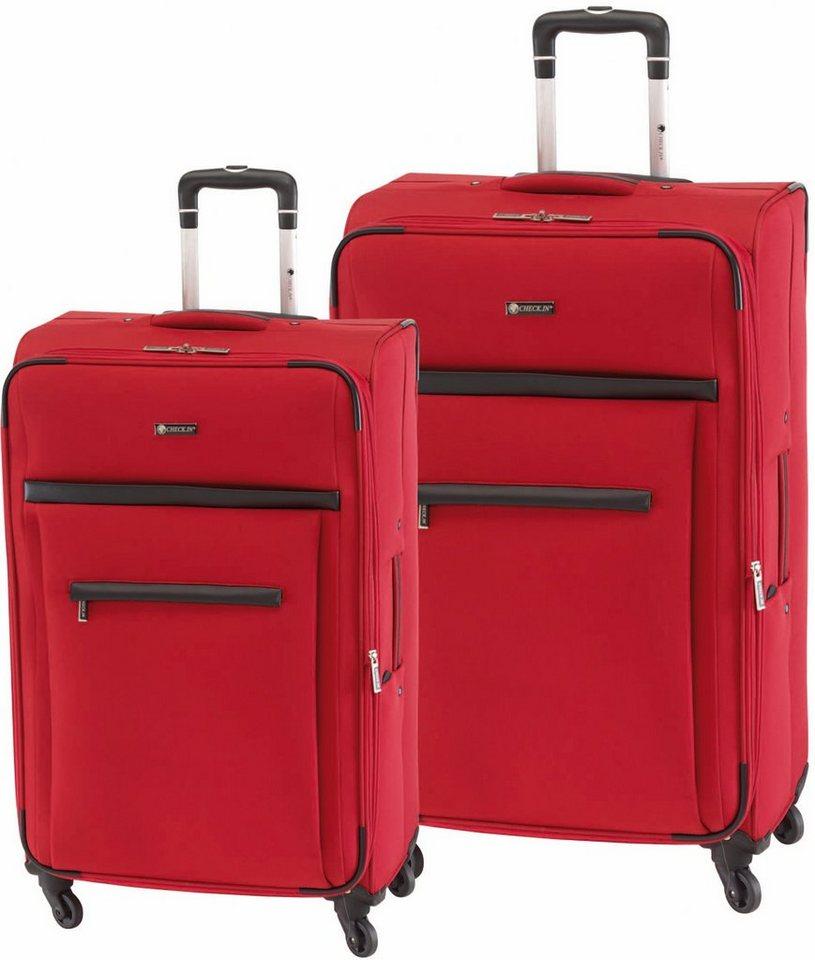 CHECK.IN® Trolley Set mit 4 Rollen, 2tlg., »Nizza« in rot