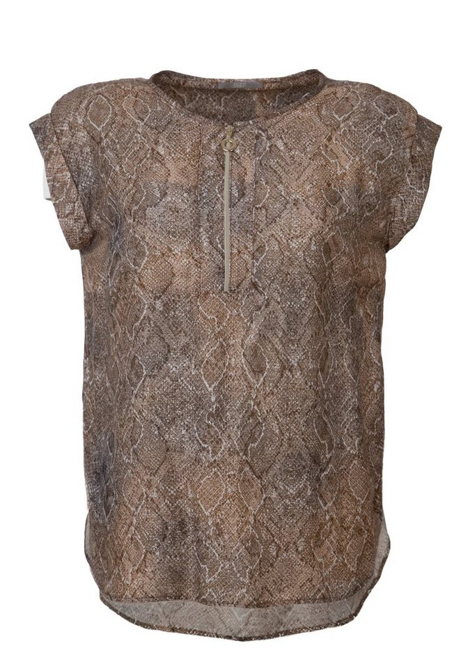 TUZZI Themendruck Bluse in cognac figured
