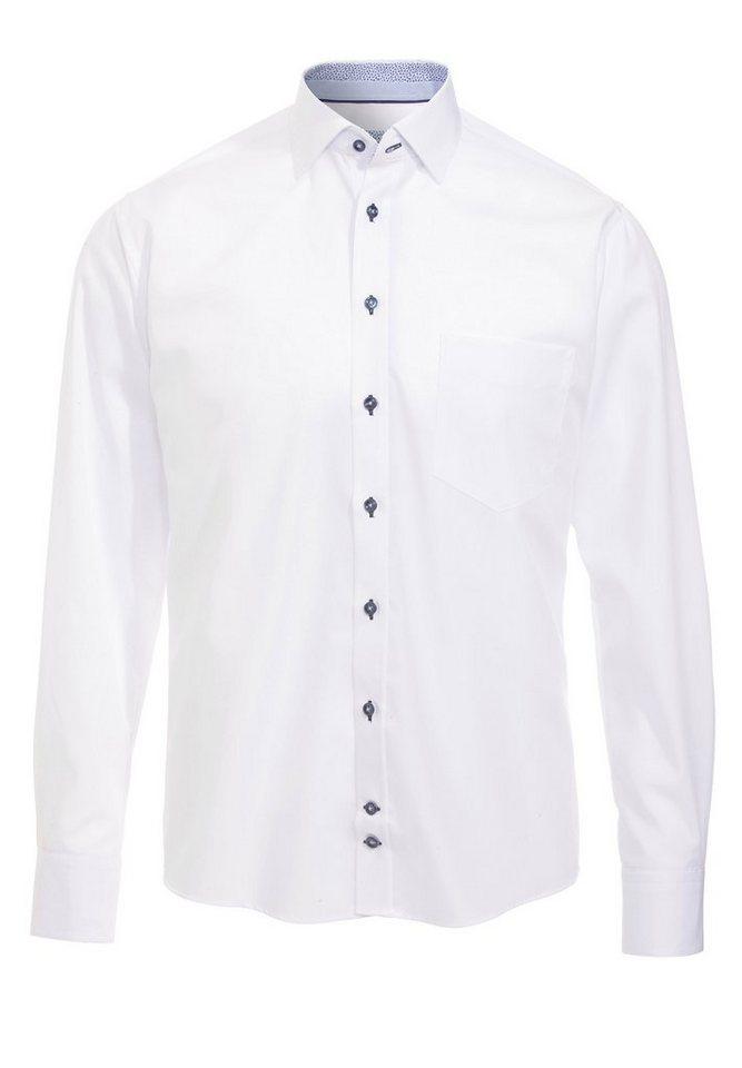 Hatico Bügelfreies Baumwollhemd in weiß