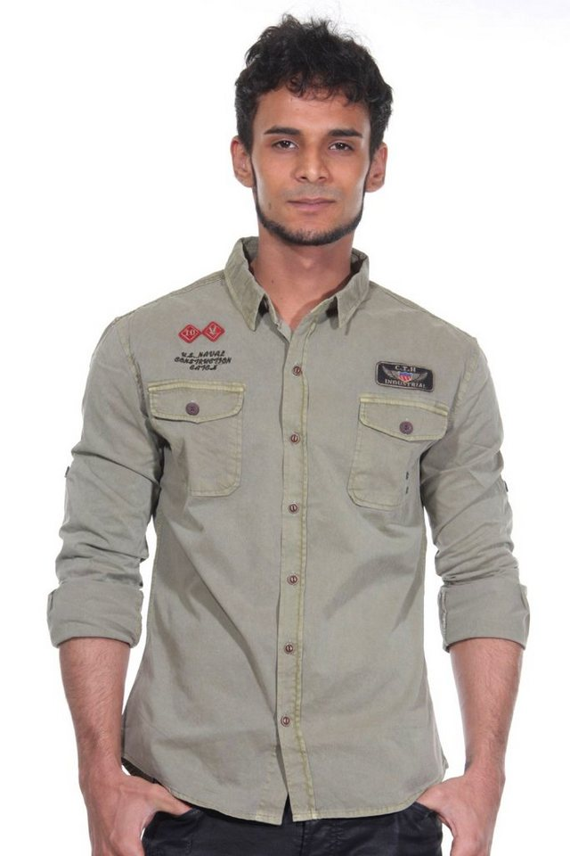 CATCH Langarmhemd in khaki
