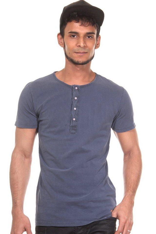 CATCH Henley T-Shirt in dunkelblau