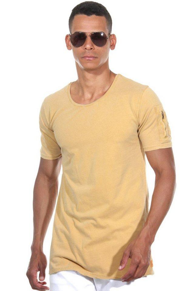 CATCH T-Shirt Rundhals in senfgelb