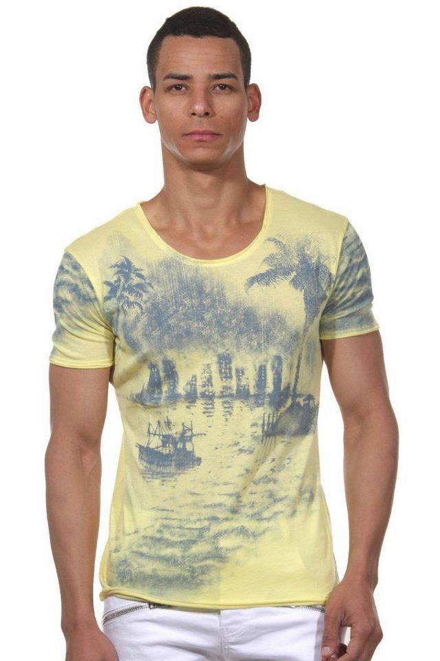 MCL T-Shirt Rundhals in gelb