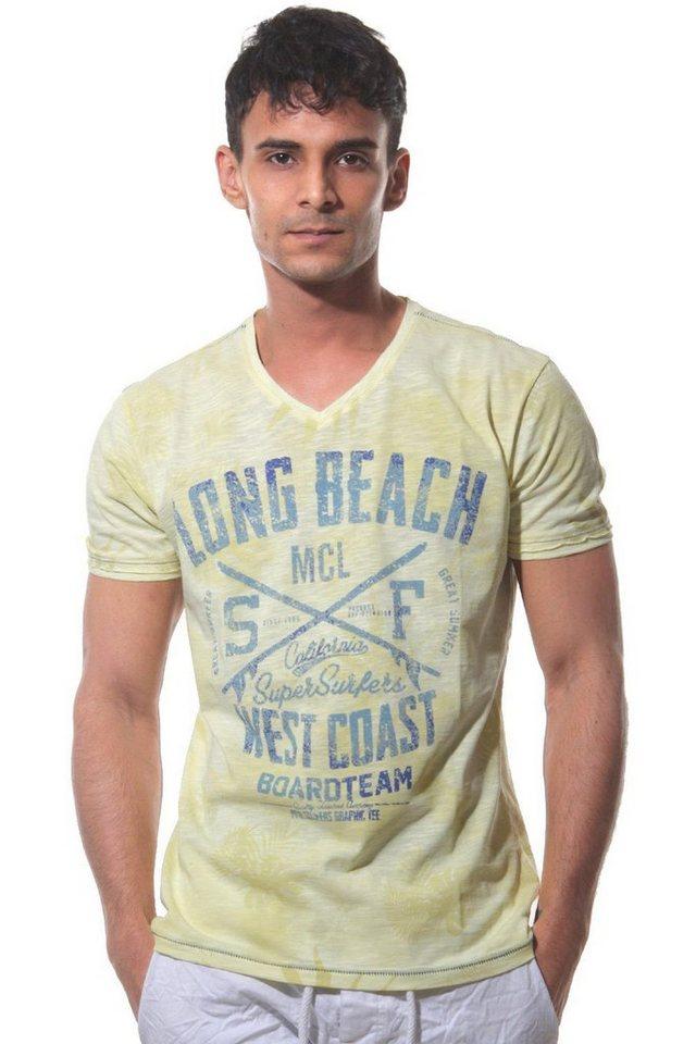 MCL T-Shirt V-Ausschnitt in gelb