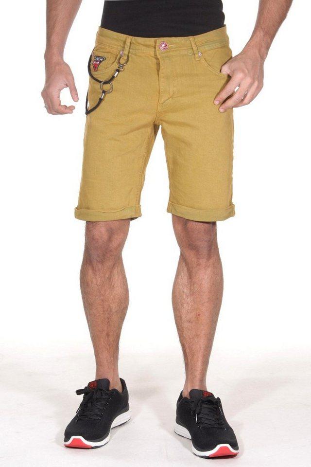 CATCH Denim-Shorts in senfgelb