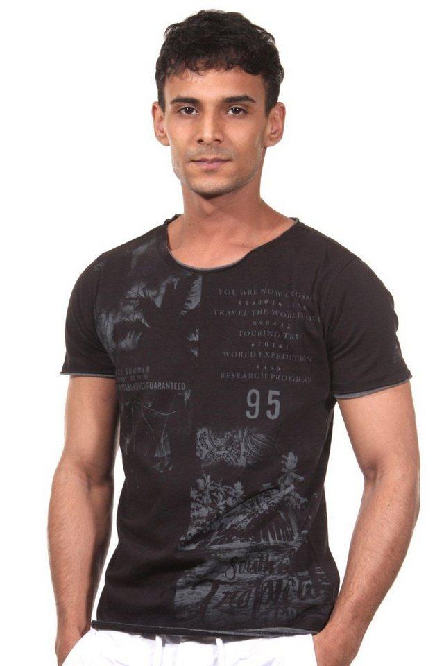 MCL T-Shirt Rundhals in schwarz