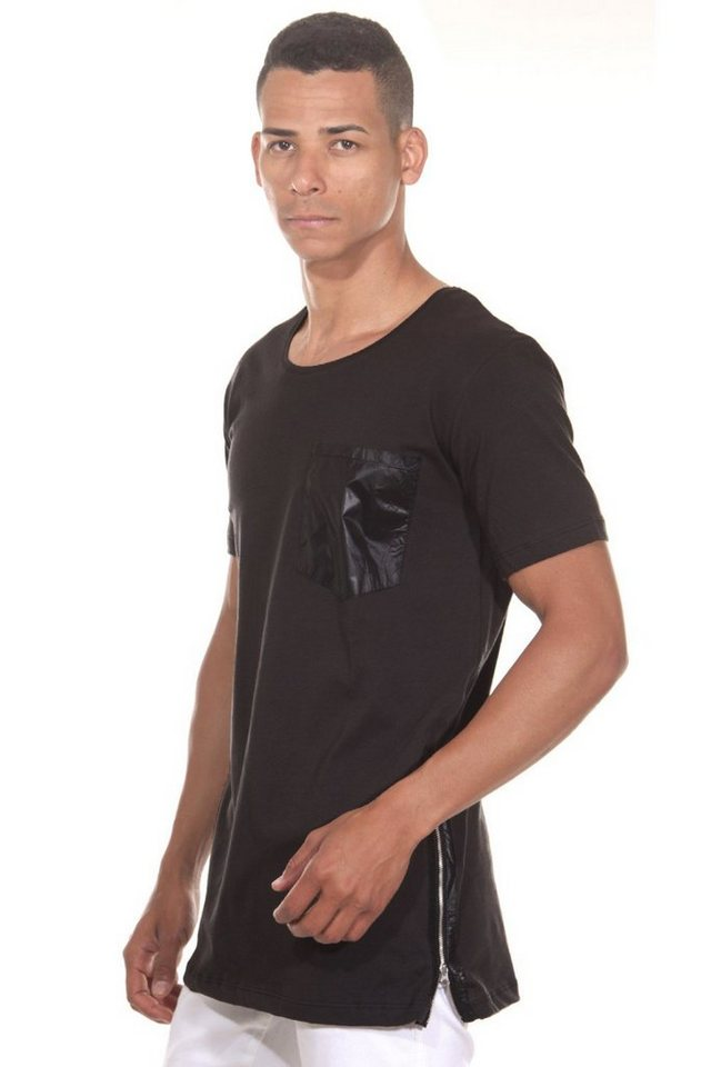 CATCH T-Shirt Rundhals in schwarz