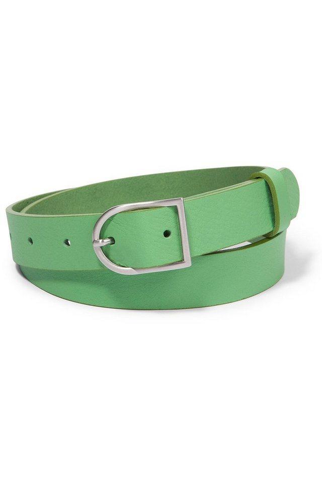 MORE&MORE Ledergürtel in grün