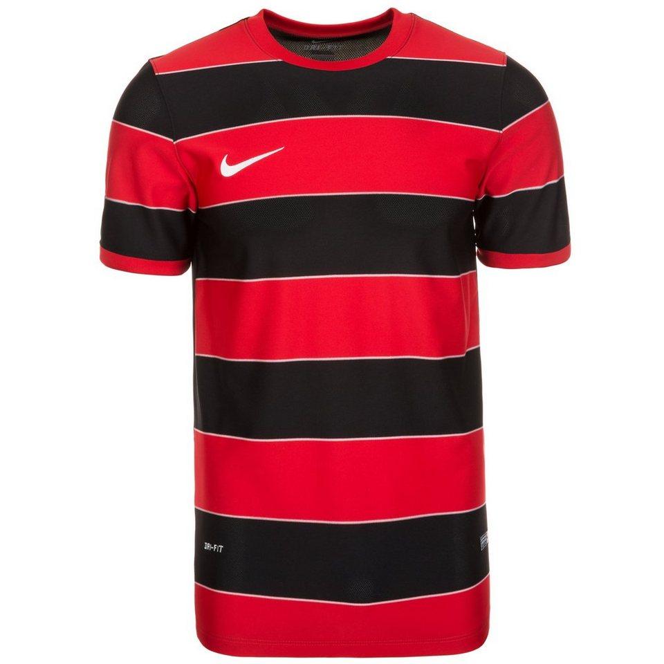 NIKE Hooped Division II Fußballtrikot Herren in rot / schwarz