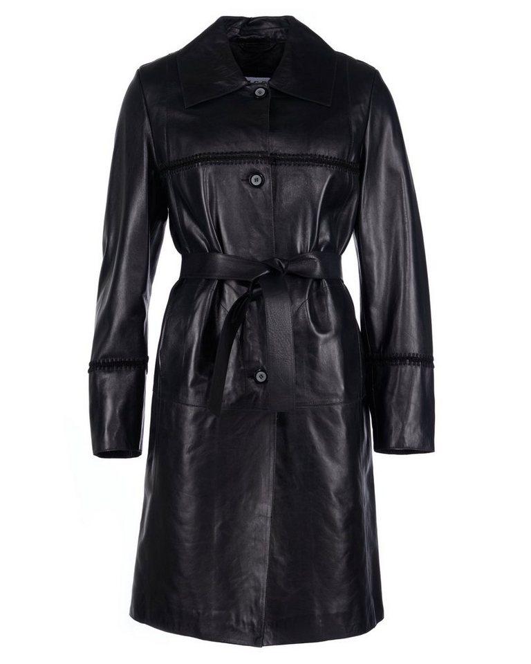 JCC Ledermantel, Damen Gaggi-M in black