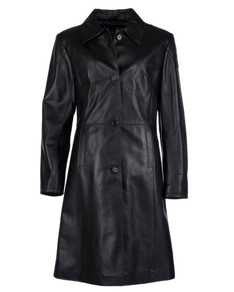 JCC Ledermantel, Damen AG-007 in schwarz