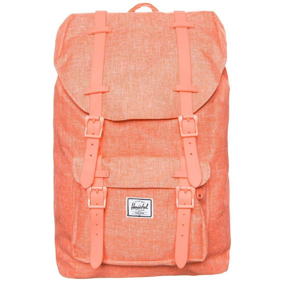 Herschel Little America Mid-Volume Rucksack in orange