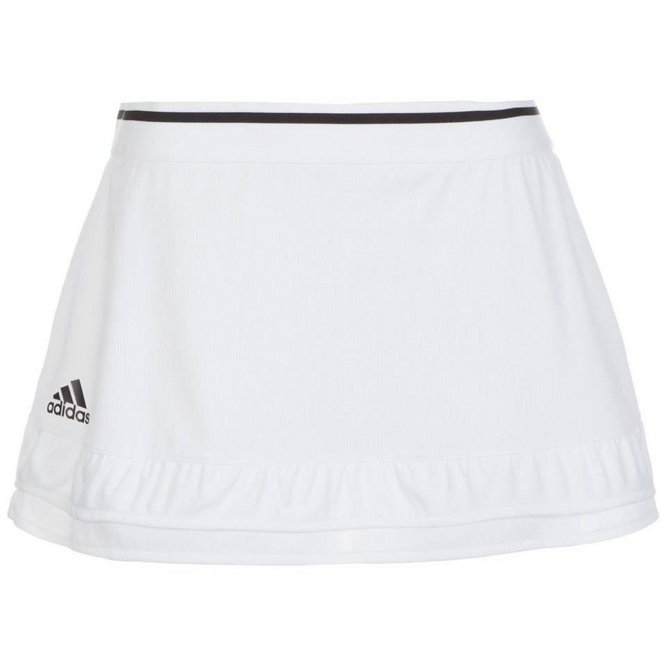 adidas Performance Uncontrol Climachill Tennisrock Damen in weiß / schwarz