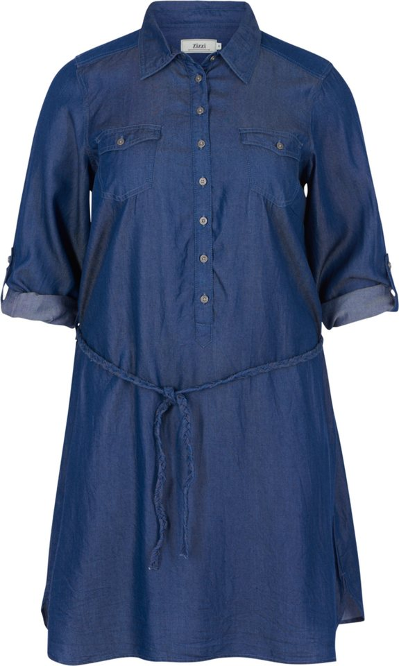 Zizzi Kleid in Dark blue denim