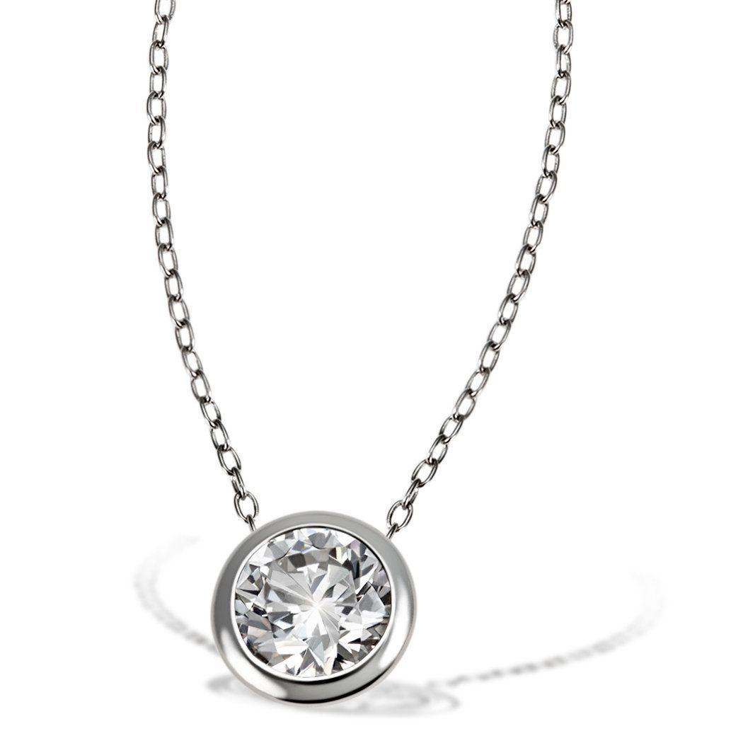 goldmaid Collier 925/- Sterlingsilber 1 weißer Zirkonia