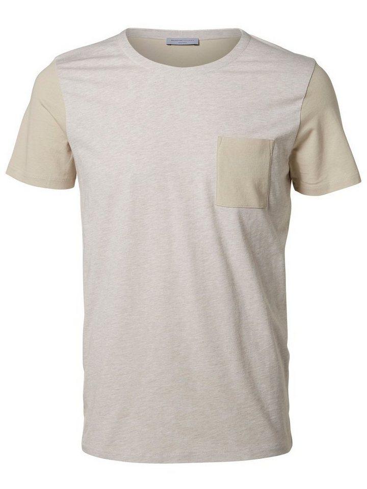 Selected Rundausschnitt T-Shirt in Silver Cloud