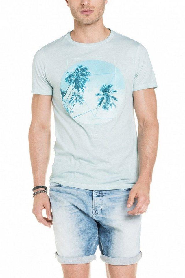 salsa jeans T-Shirt, kurzarm in Light bue
