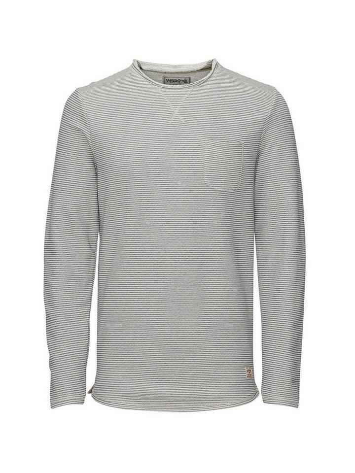 Jack & Jones Gemustertes Sweatshirt in Mood Indigo