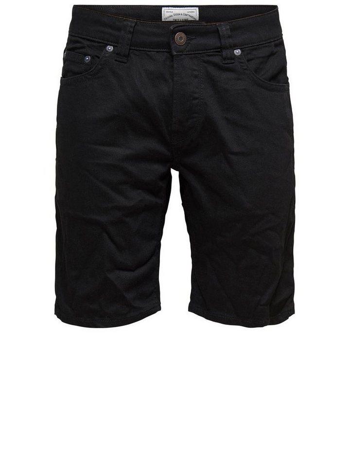 ONLY & SONS Schlank geschnittene Shorts in Black