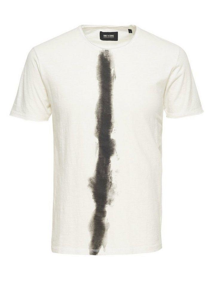 ONLY & SONS Bedrucktes T-Shirt in Cloud Dancer