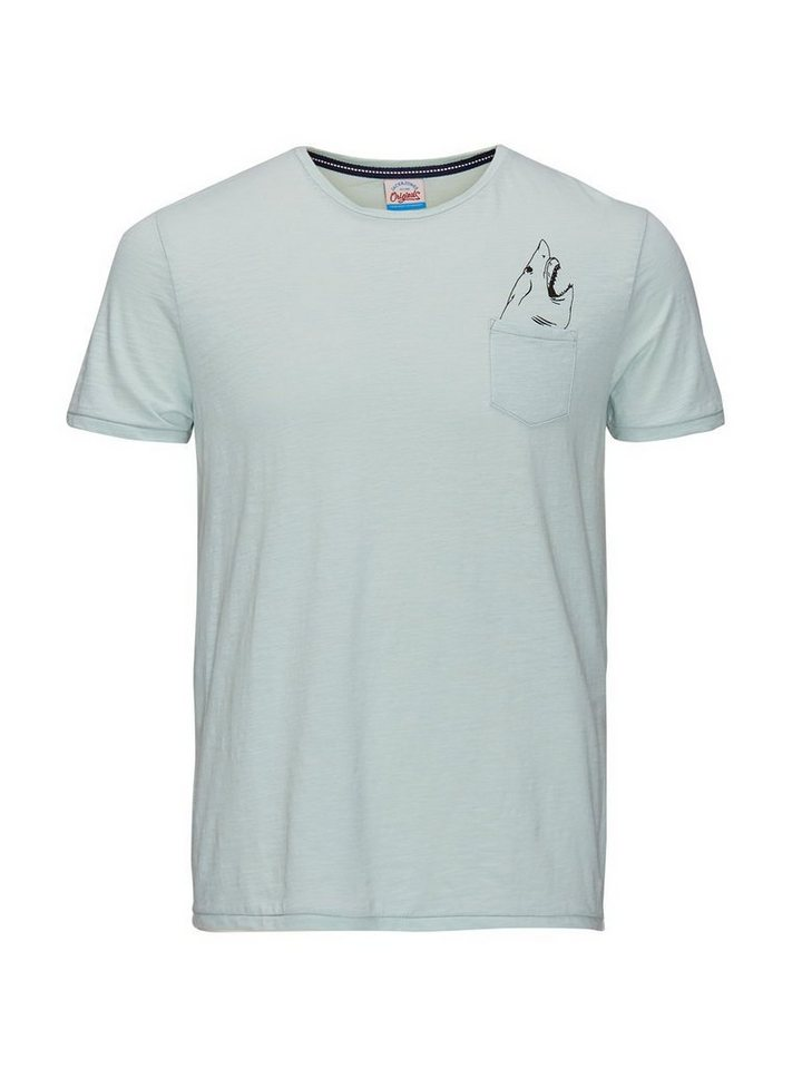 Jack & Jones Taschenprint T-Shirt in Surf Spray