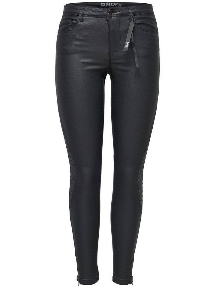 Only Royal reg coated ankle Skinny Fit Jeans in Black
