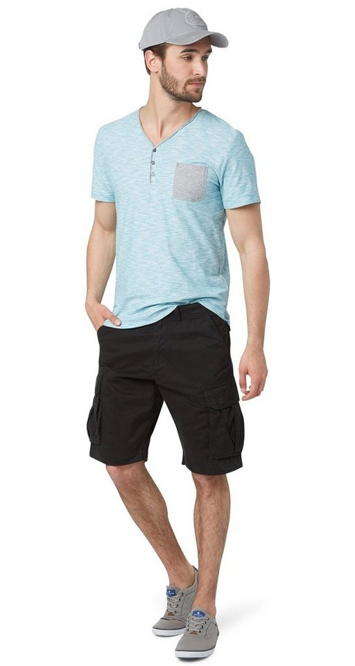 TOM TAILOR Shorts »Morris relaxed bermuda« in black