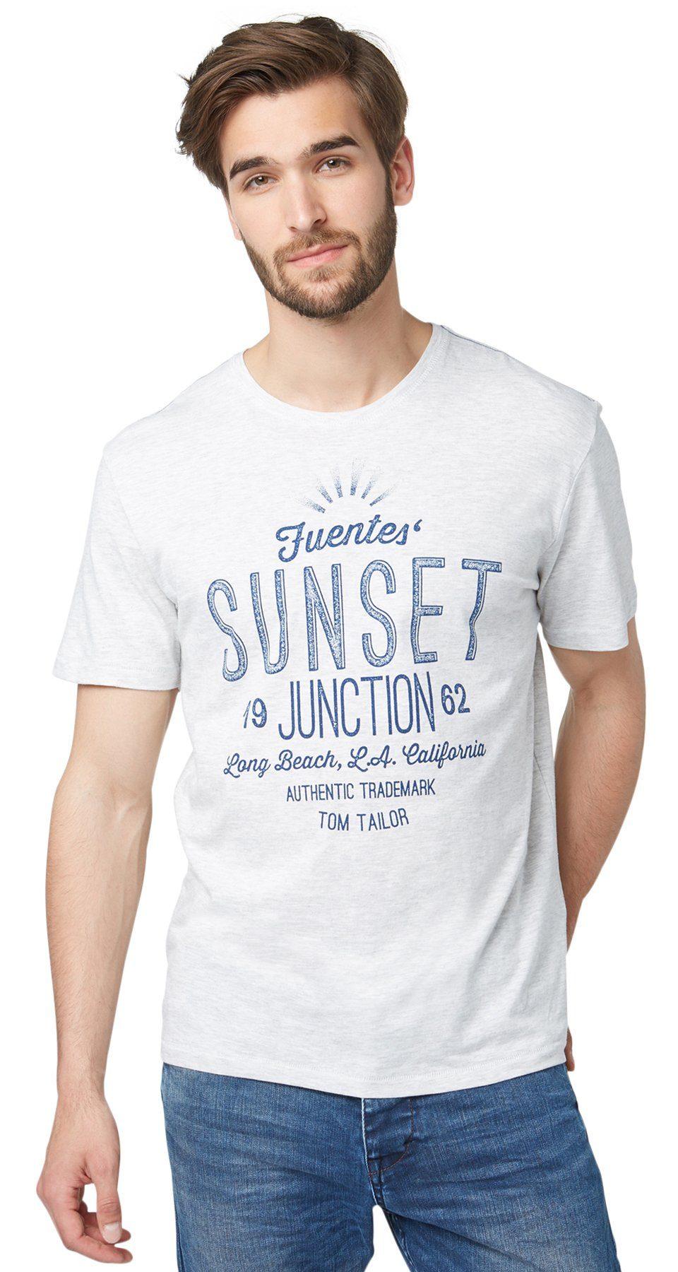 TOM TAILOR T-Shirt »T-Shirt mit sommerlichem Schriftzug«