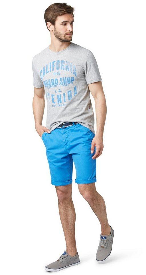 TOM TAILOR Shorts »Chino-Bermuda mit Gürtel« in even blue