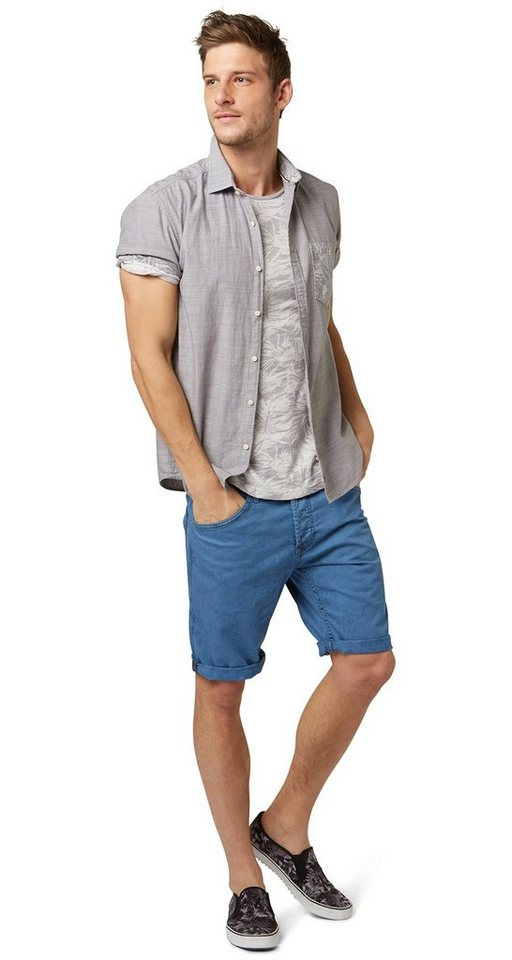 TOM TAILOR DENIM Shorts »Atwood regular denim bermuda« in light blue