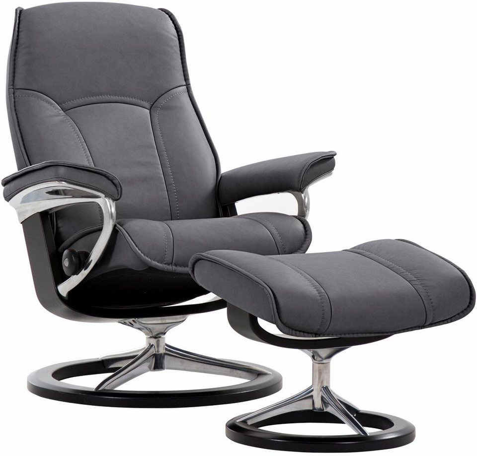 stressless set relaxsessel mit hocker senator mit signature base gr e s mit. Black Bedroom Furniture Sets. Home Design Ideas
